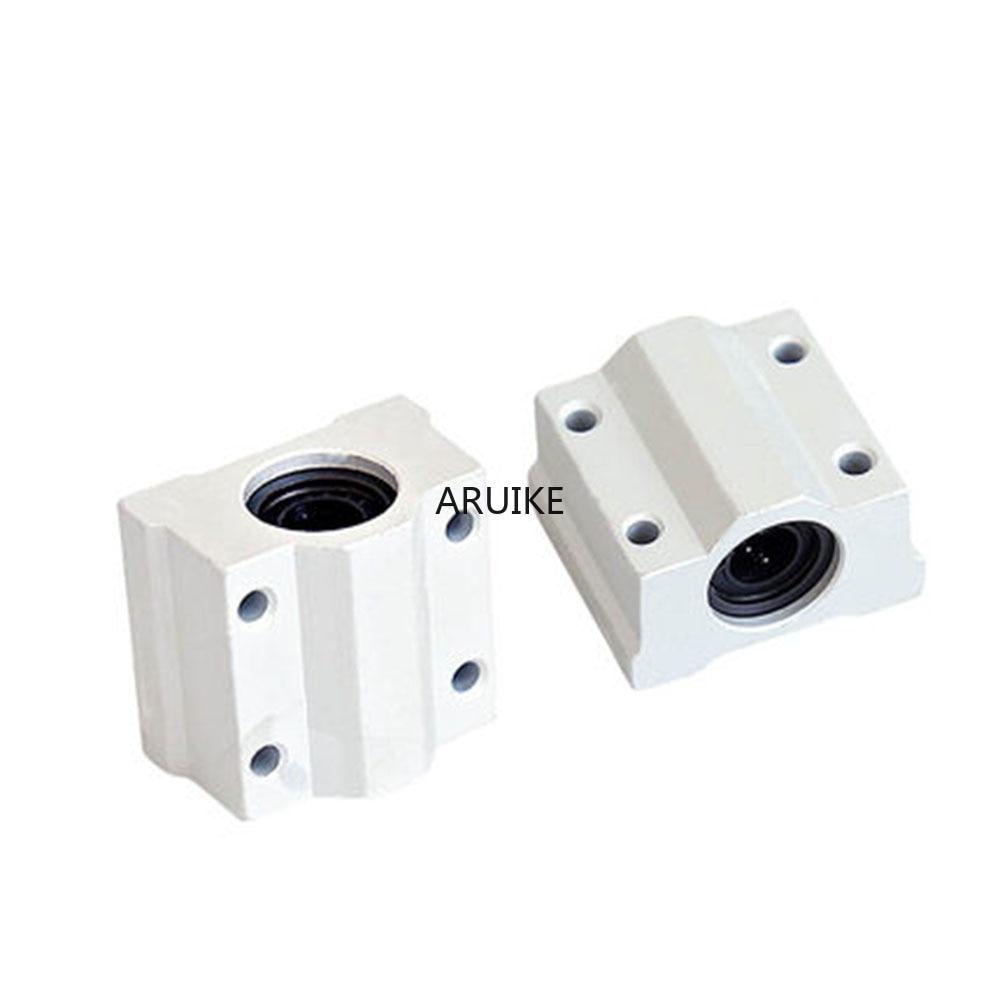 1pcs Scs6uu/scs8uu/scs10uu 6mm/8mm/10mm/12mm Linear Motion Ball Bearing CNC Slide Bushing For Linear Shaft DIY 3D Printer Parts