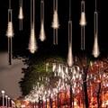 EU Plug Multi-color 30CM /50CM Meteor Shower Rain Tubes AC100-240V LED Christmas Lights Wedding Garden Xmas String Light Outdoor