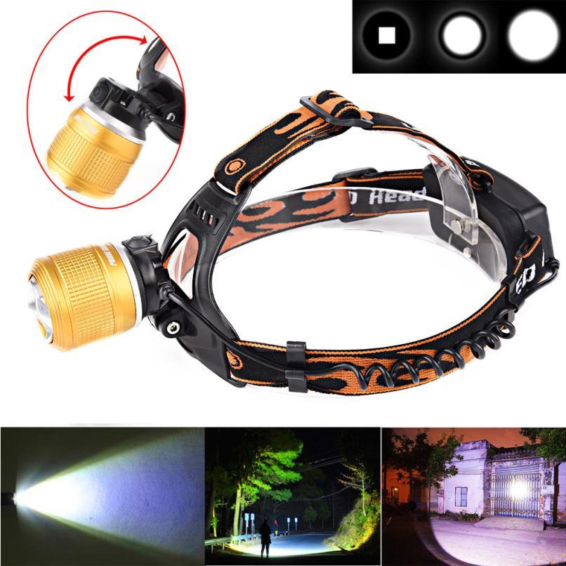 2017 NEW 5000LM CREE XM-L T6 LED Headlamp Headlight Flashlight Head Light Lamp 18650 S911
