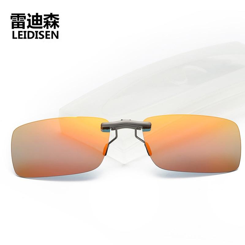 Unisex Polarized Clip On Sunglasses Near Sighted Driving Night Vision Lens Anti UVA Anti UVB Men Sunglasses Clip in Men 39 s Sunglasses from Apparel Accessories