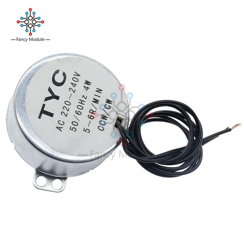 TYC-50 AC 12V//220V 5//6RPM 50//60Hz 4W CW//CCW Synchronous Motor For Microwave
