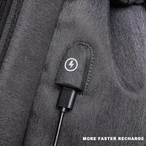 Image 4 - Erkek rahat seyahat çantası erkek göğüs çanta paketi Anti hırsızlık USB su geçirmez omuz Crossbody çantaları genç erkek Mini ipad çantası