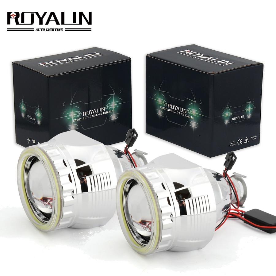 ROYALIN Car External Light Lenses for Audi A2 Citroen C1 Bixenon H1 Projector Headlight with White