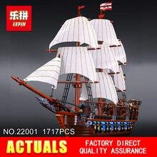 NOUVEAU LEPIN 22001 Bateau Pirate navires de guerre Modèle Kits de Construction Bloc Briks Garçon Jouets Éducatifs Modèle Cadeau 1717 pcs Compatible 10210