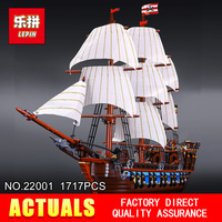 2016 Presell 22001 LEPIN 1717pcs Pirate Ship Imperial Warships Model Building Kits Minifigure Blocks Briks Toys