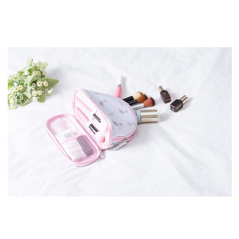 Cosmetic tool New printing makeup bag ladies multi-function beautiful Brushes Organizer Women Waterproof Travel Portable
