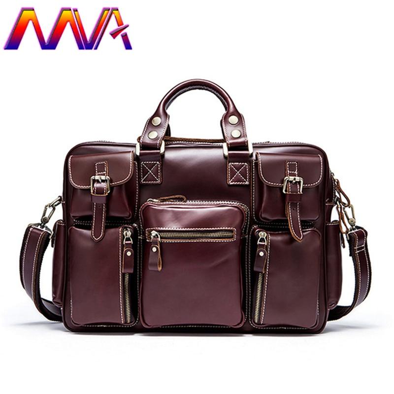 MVA 100% genuine leather travel bag for fashion men leather shoulder bag with 100% genuine leather men messenger bag men handbag