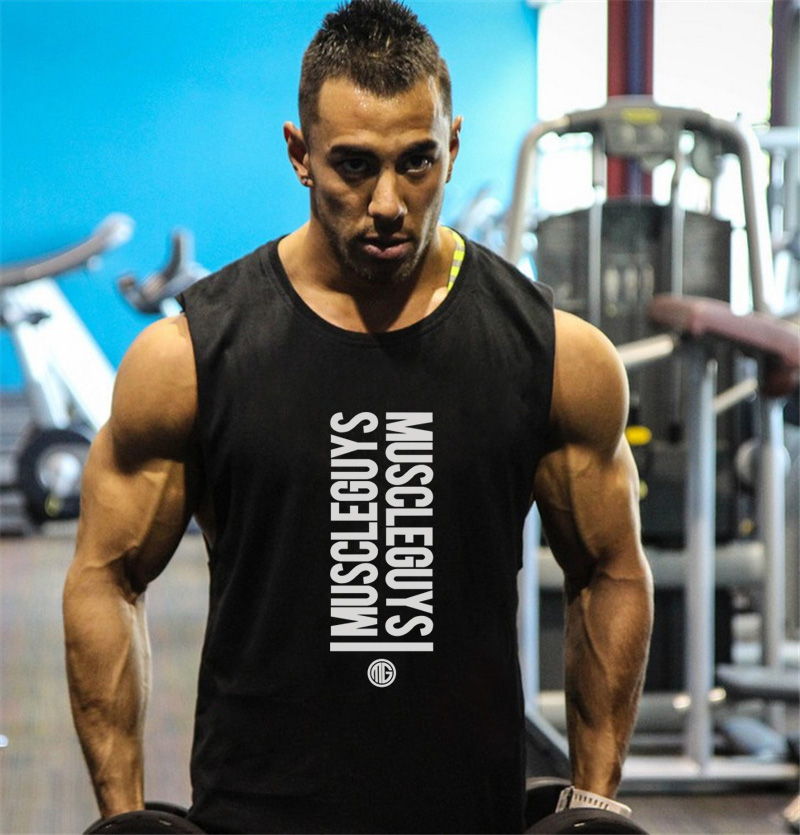 New Brand Clothing Fitness Men Tank Top BEAST print Mens GYMS Bodybuilding Stringers Tank Tops workout Singlet muscle shirt