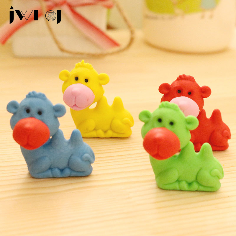 1 Pcs  Lovely Camel Shape Cartoon Animal Eraser Kawaii Stationery School Office Correction Supplies Child's Toy Gifts