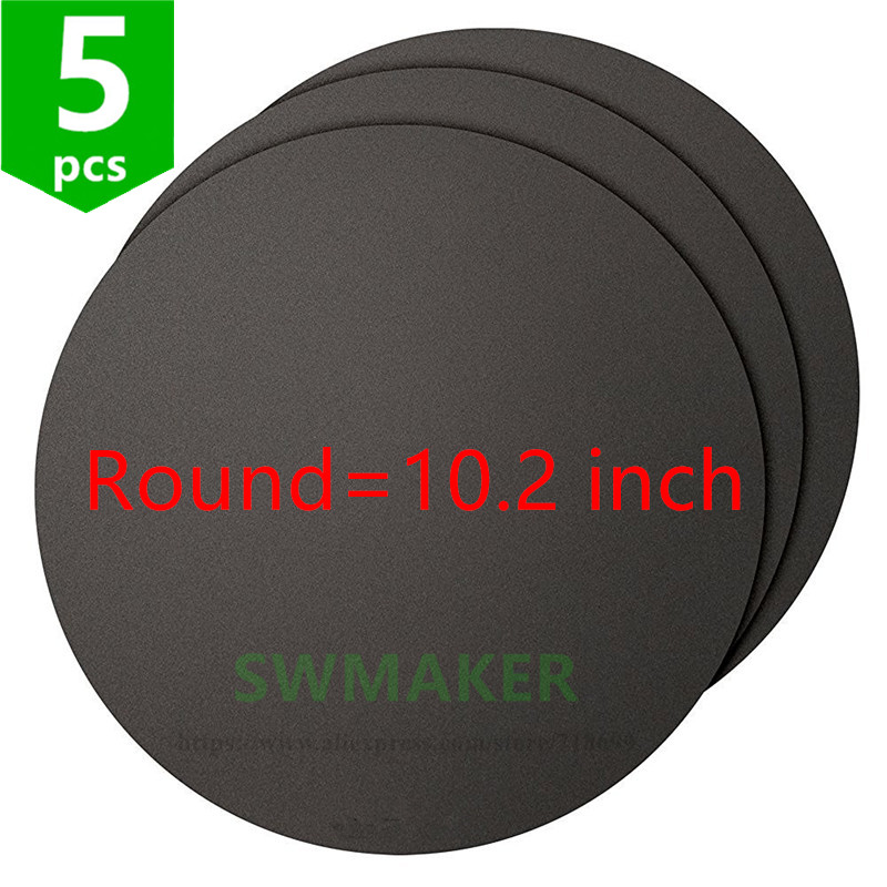 SWMAKER Kossel round 260mm avaible printing surface sheet 3D Printing Build Surface 10 2 Diameter Round