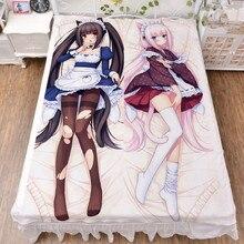 Galgame NEKOPARA Anime Chocolat & Vanilla Bedsheet Throw Blanket Bedding Flat Sheet