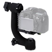 망원 렌즈 DSLR 카메라 용 전문 헤비 듀티 메탈 짐벌 볼 헤드 360 파노라마 삼각대 볼 헤드