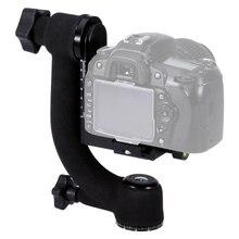 Profesyonel ağır Metal Gimbal Ballhead 360 panoramik tripod döngüsü başkanı telefoto Lens DSLR kamera