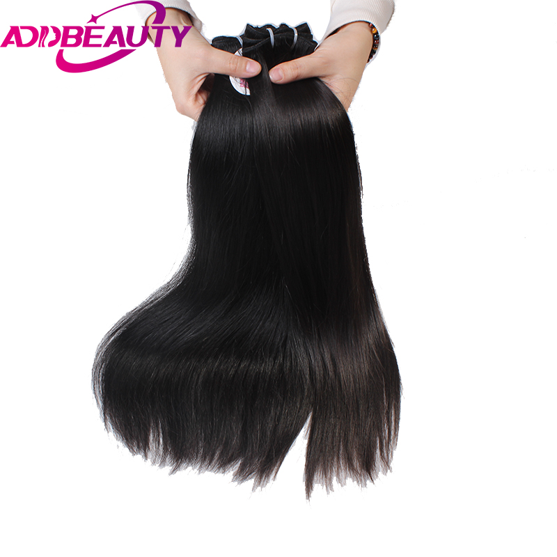 AddBeauty Straight Brazilian virgin Hair Young girl Human Hair Weave Bundles Natural Color longest Hair PCT
