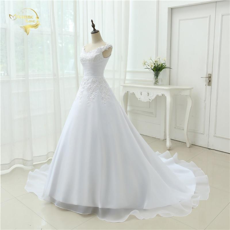 Vestido De Noiva Vestido de Boda en la Playa Casamento A line Cap - Vestidos de novia - foto 3
