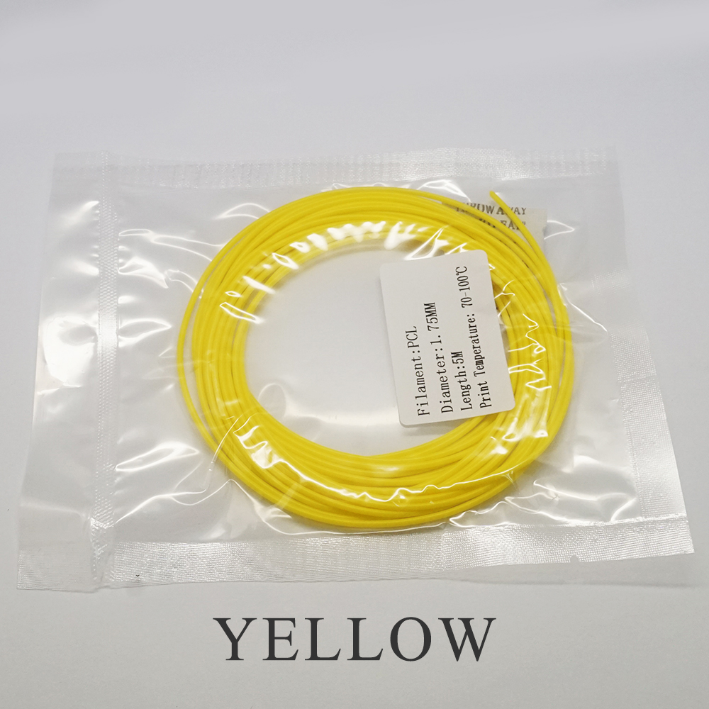 3D Printer Filament PCL 1 75 10 Meters 3D Pen Filament Plastic PCL Wire for Low Temperature Cheap 3D Printers Filament Extruder in 3D Printing Materials from Computer Office