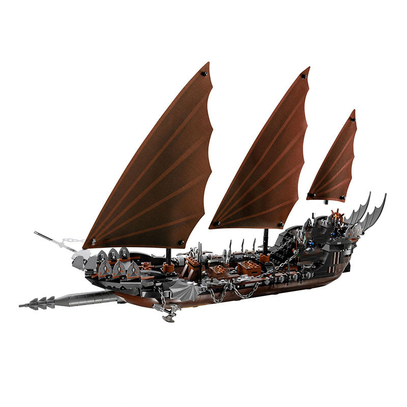 Compatible Legoe 79008 model 16018 806pcs lord of rings Series Ghost Pirate Ship Set building blocks bricks toy for children 16018 lepin lord of the rings the ghost pirate ship model building blocks enlighten figure toys for children compatible legoe