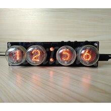 4 bit geïntegreerde gloed buis klok QS30 1, SZ 8 klok glow buis met acryl case, met afstandsbediening en LED Backlight