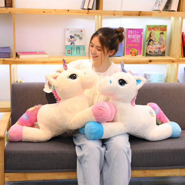 40/80cm Cute Unicorn Plush Toys for Kids Stuffed Animals Soft Doll Cartoon Unicorn Animal Horse High Quality Gift For Children все цены