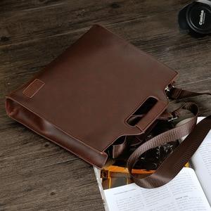 Image 4 - 2019 Vintage الرجال حقيبة الأعمال حقائب مكتبية مجنون الحصان الجلود حقيبة يد جديدة الكمبيوتر حقيبة لابتوب حقائب كروسبودي عادية