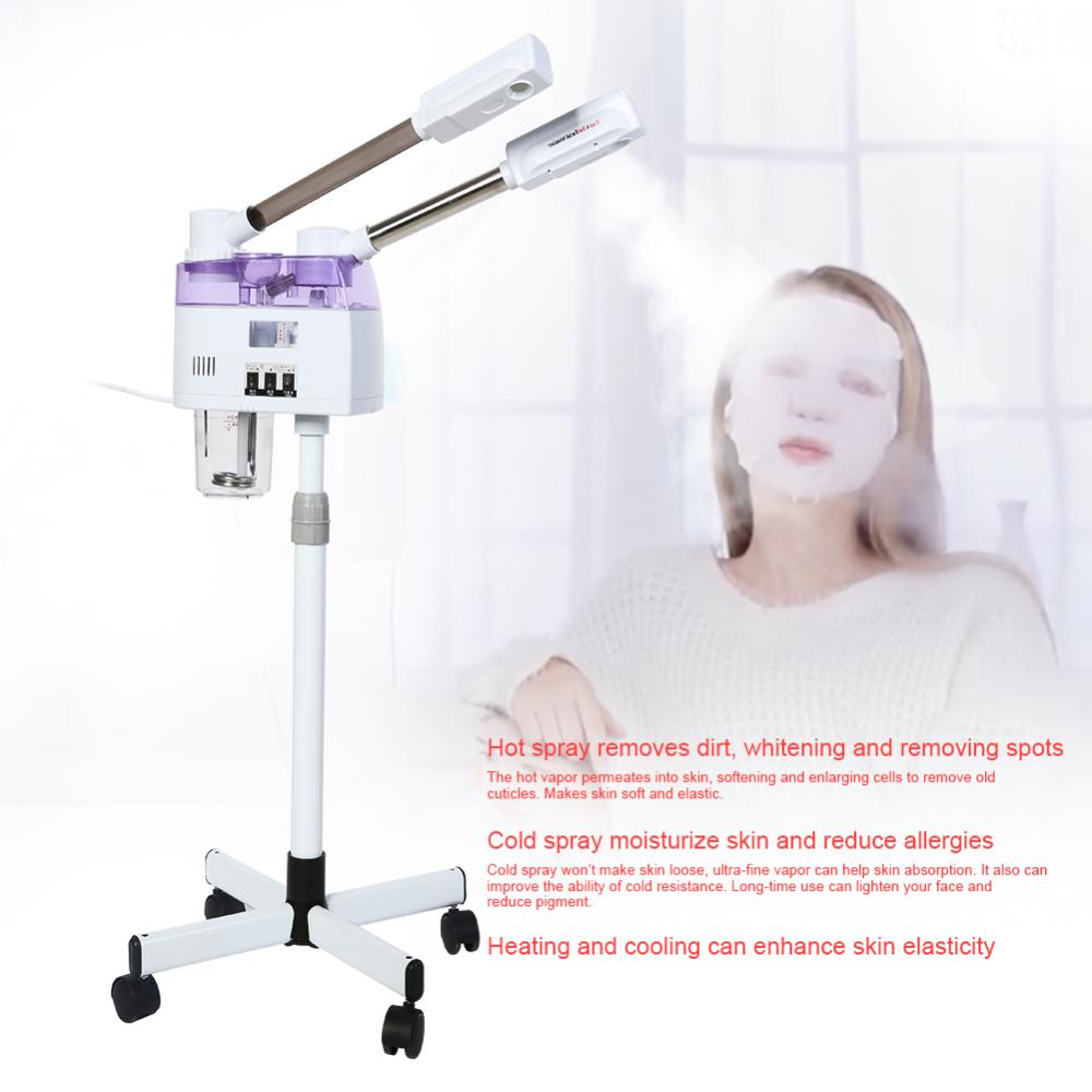 Hot Cold Facial Steamer Humidifier Home Spa Ozone Steaming