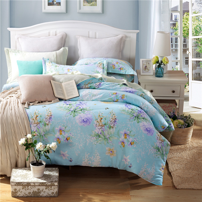 Unihome 100% Cotton Duvet Cover Sets, Print Floral Pattern Design, Full Queen Size (MWQY)