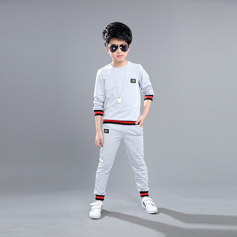 2018 Spring Autumn new boys set 3 colors children patchwork long sleeve t-shirt+pants baby boys sports suit kids casual set kids clothes sets wholesale spring and autumn boys sports leisure suit t shirt hoodie long pants free shipping in stock