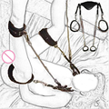 Кожа Ног лифт рука лодыжки манжеты сдержанность фетиш цепи рабства жгут взрослый Костюм Секс Игры Игрушки для пары женщин геев