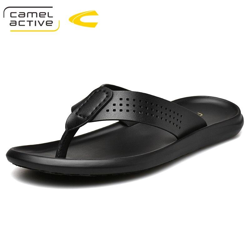 Camel Active 2019 Neue Echtem Leder Männer Hausschuhe Sommer Schuhe Männer Mode Komfortable Wanderschuhe Große Größe Strand Schuhe