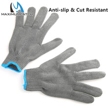 Maximumcatch Fishing Gloves 2 Pieces Thread Weave Cut Resistant Fillet Knife Glove Protective Anti Slip Fishing Gloves