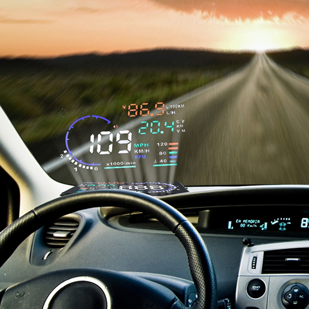 hot hud a8 car alarm system obd2 euobd interface head up display overspeed warning automobile. Black Bedroom Furniture Sets. Home Design Ideas