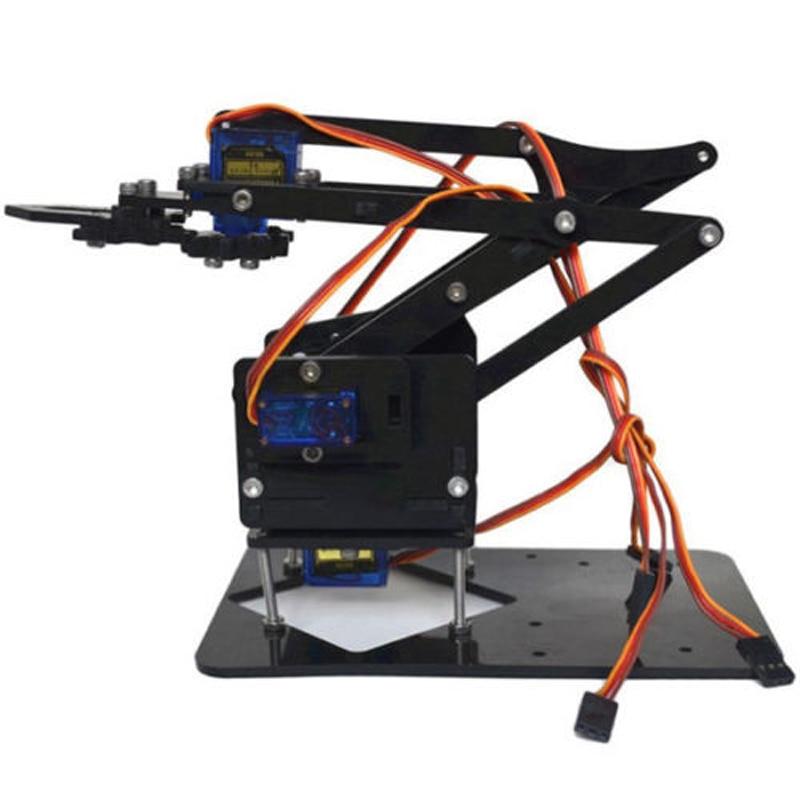 Robot Arm Kit DIY Robot Arm Claw Mechanical Grab Manual DIY Assembly Robot  Arm Manipulator Assembled Gifts Tool Parts
