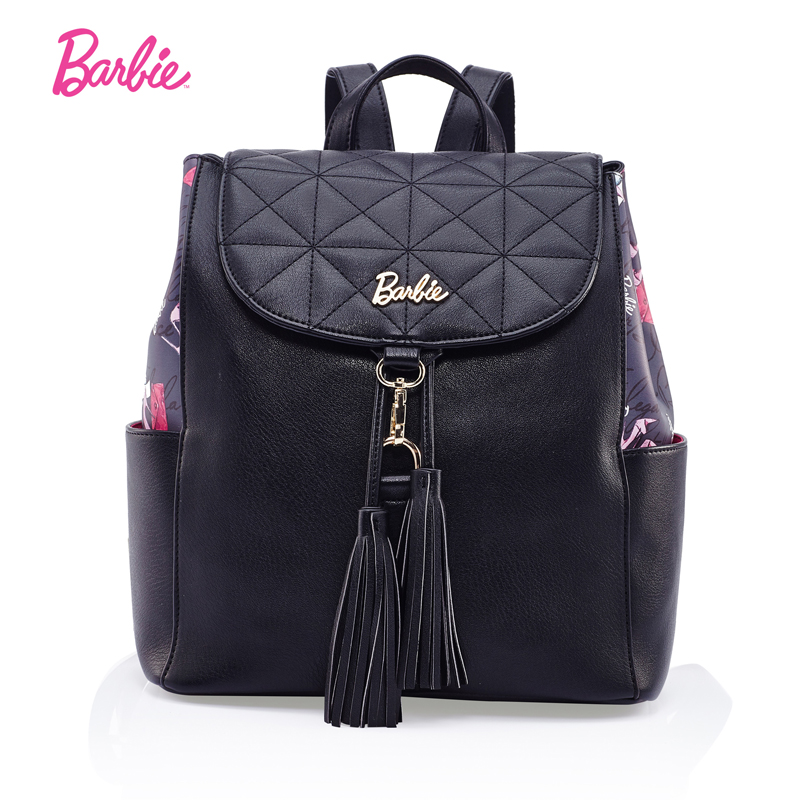 Barbie Women backBags simple classic style girls PU leather backpack Fashion Trend Brief Bag for cute