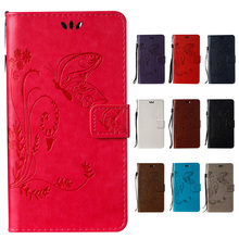 Wallet Flip PU Leather Butterfly Embossed Smart Stand Cases For Huawei Y6 II 2 Honor 5A Mobile Phone Bags Stand Holder Cover