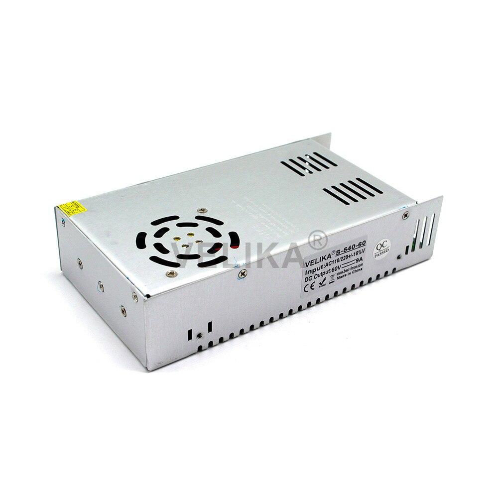 Universal Power Supply DC Regulated 60V 10A 600W Switching Power Adapter Transformer 110V 220V AC to DC60V For CNC CCTV Motor-in Switching Power Supply from Home Improvement    3