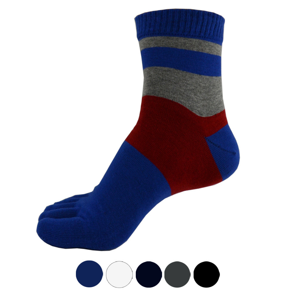 Cycling Socks 1 Pair Men Middle Tube Sports Running Five Finger Toe Socks