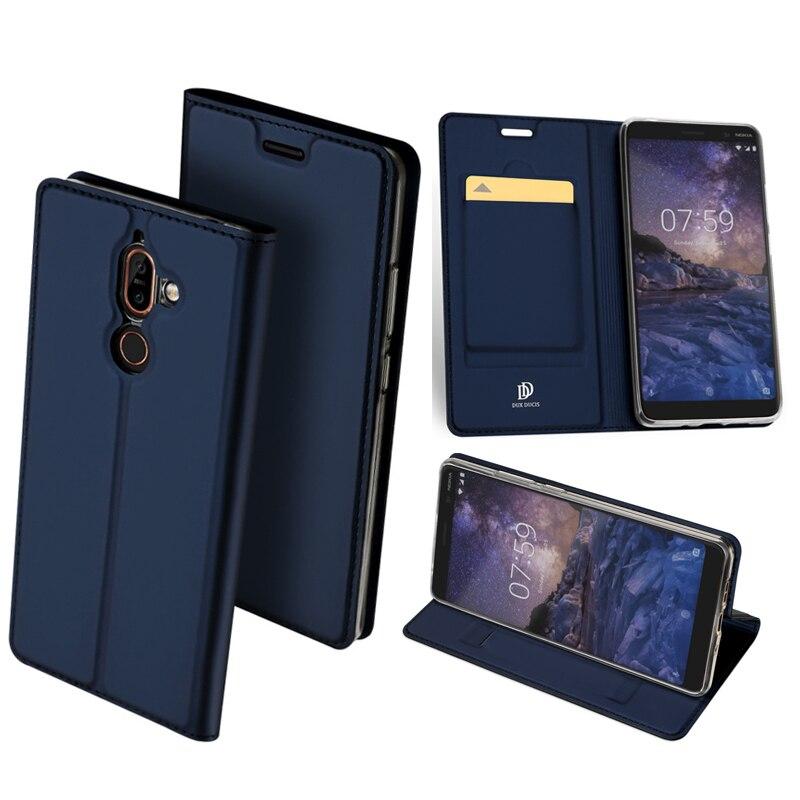 Оригинальный dux DUCIS кожаный чехол для Nokia 7 плюс Чехол Роскошные ультра тонкий флип чехол для Nokia 7 плюс Телефонные чехлы сумка