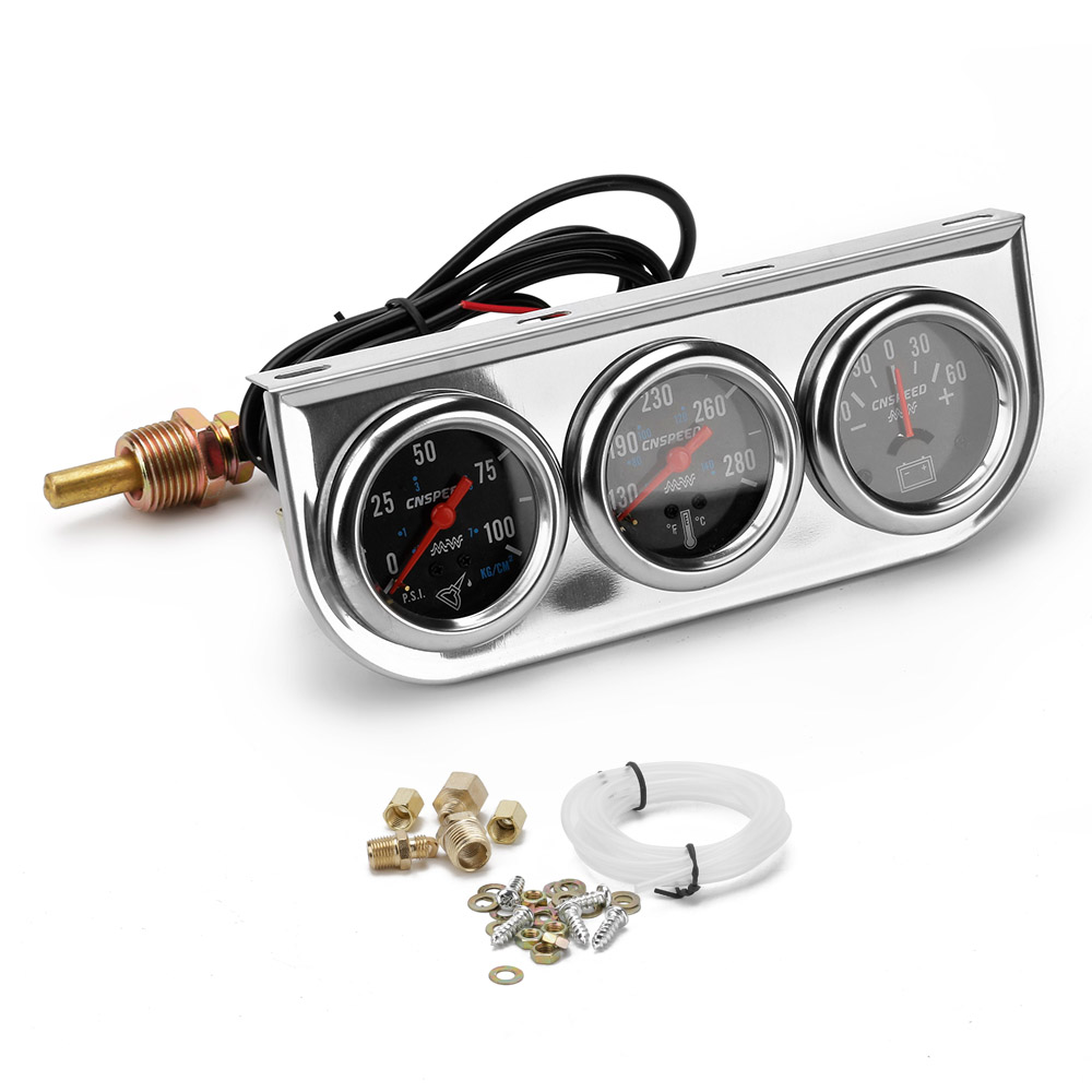 Cnspeed 60mm Car Exhaust Gas Temperature Gauge 200 1200c Egt Amp Meter For Auto Oil Pressure Water Temp 6060 With Sensor