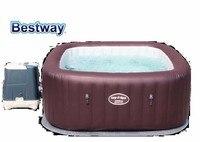 54173 BestWay 201x201x80 см Мальдивы HydroJet Pro SPA 79x79x31,5 квадрат надувные массаж спа плавательный бассейн с подогревом для 5 7 Для мужчин