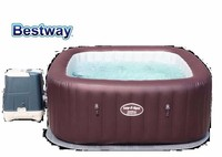 54173 BestWay 201x201x80cm Maldives HydroJet Pro SPA 79x79x31.5Square Inflatable Massage SPA Heating Swimming Pool for 5~7 Men