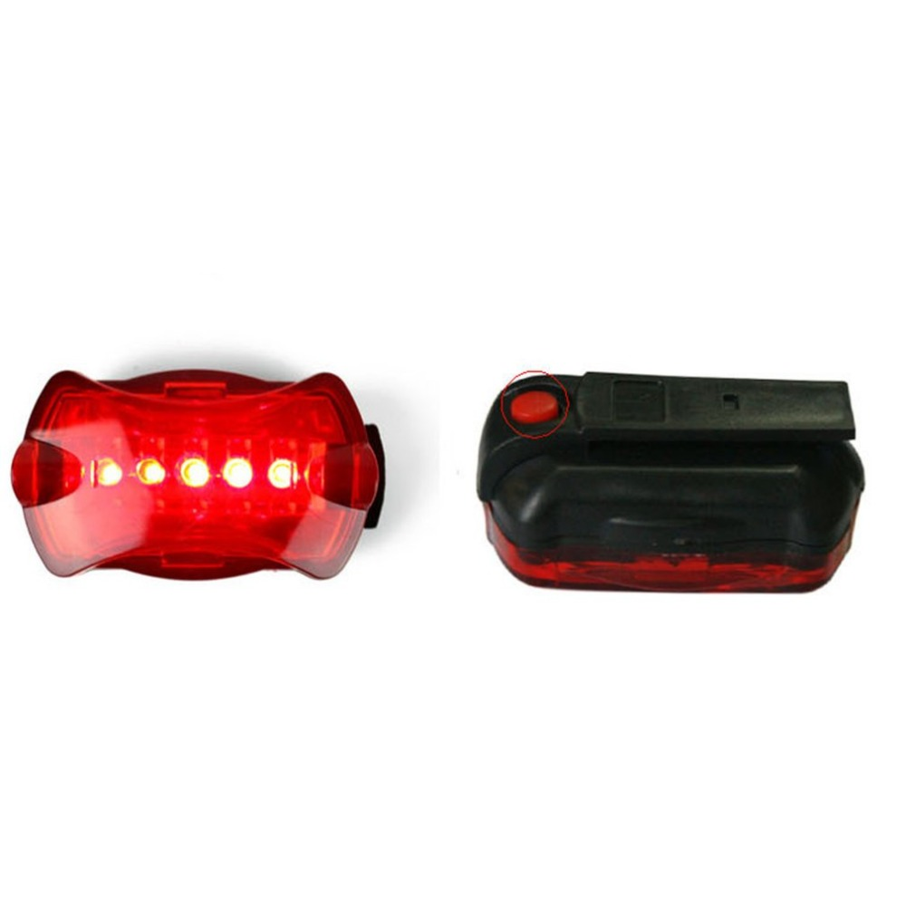 Waterproof Super Bright Battery Powered Rear Tail Bike Light Lamp Taillight  Bright 5LED Cycling Bicycle Safety Rear Light