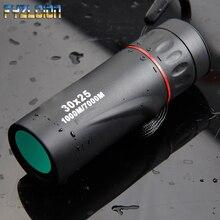 30x25 Monocular Zoom Telescópio Óptico HD 7X Baixa Visão Noturna À Prova D Água Mini Portátil Telescópio de Foco para a Caça de Viagem