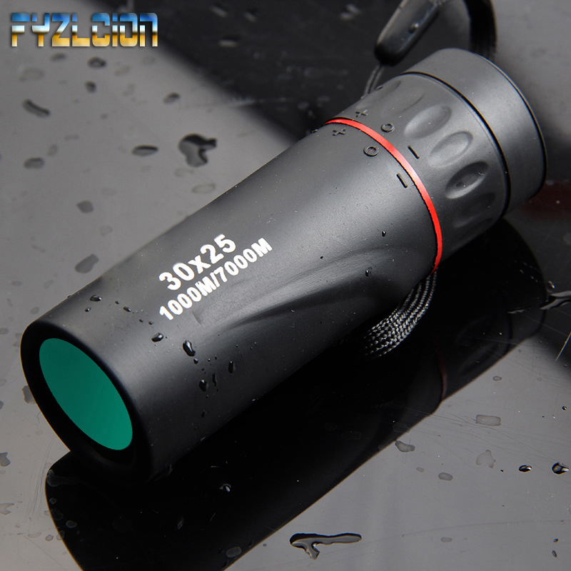HD Optical 30 x 25 Monocular Zoom Telescope Low Night Vision Waterproof Mini Portable 7X Focus Telescope for Travel Hunting-in Monocular/Binoculars from Sports & Entertainment