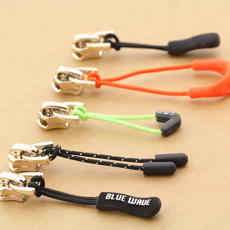 Sale 10PCS/Lot for zipper Jacket Tent Backpack Accessories Cloth Zip Cord Zipper Rope