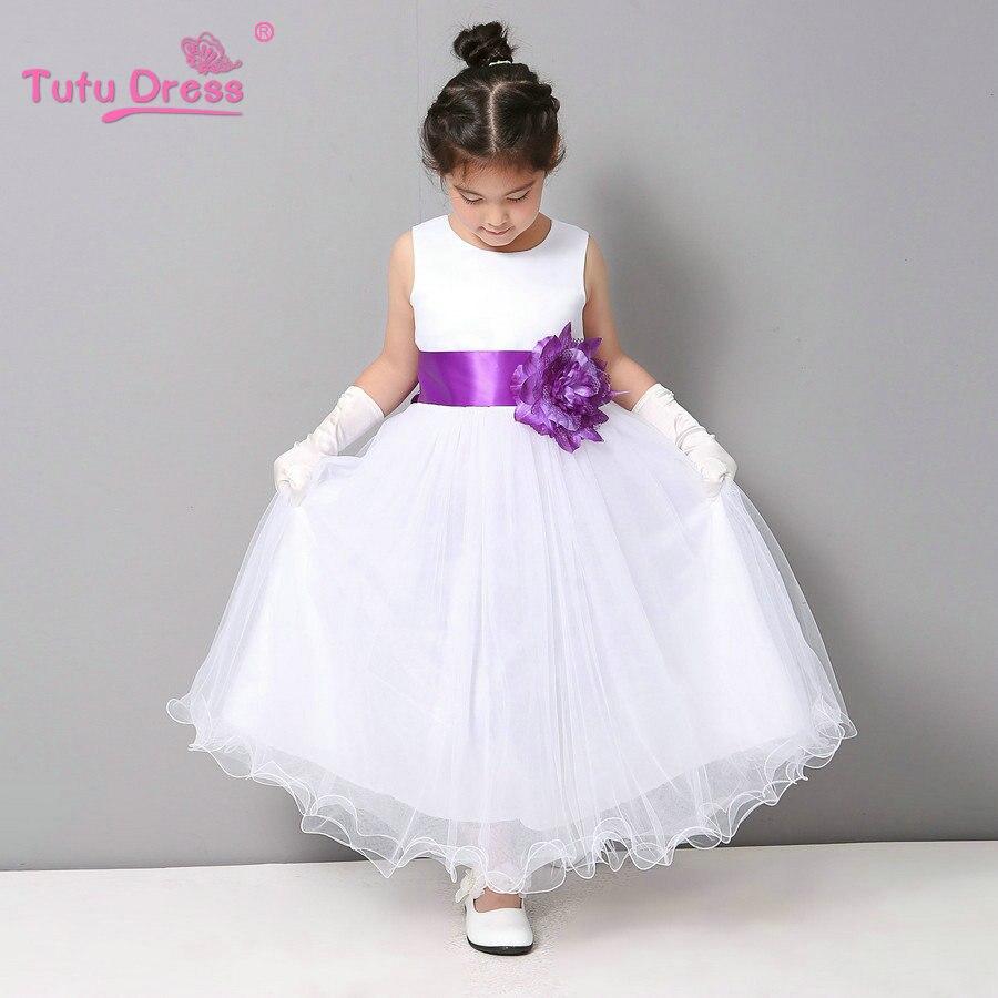 Wavy edge girl dress summer cheap white stain dress for Children Toddler Kids Teen Girls  Платье