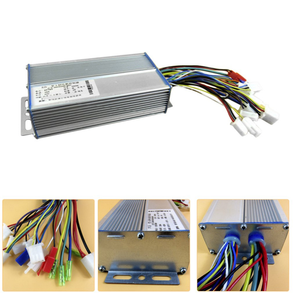 New 48V-64V 500W 28A Brushless Motor Controller For Electric Vehicle Scooter  12 Tube Dual Mode Bicycle Electric Controller