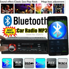 new 2015 Car Radio Player Support Bluetooth,Phone Answer,MP3,FM,USB,1 Din,remote control 12V Car Audio Stereo,In-Dash aux in