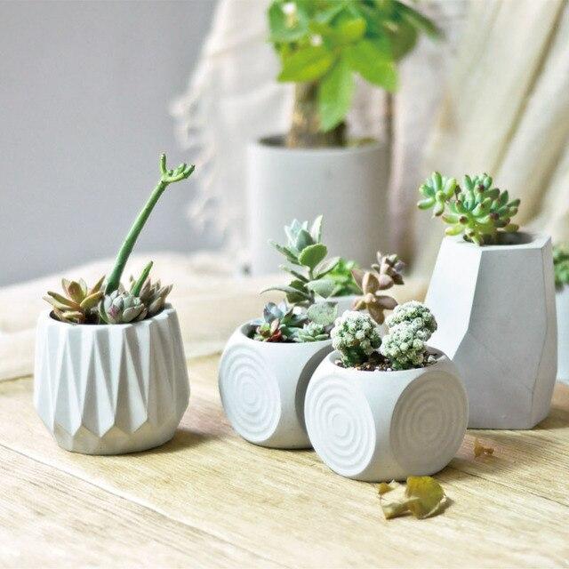 silicone molds for concrete flower pot diy cement planters. Black Bedroom Furniture Sets. Home Design Ideas