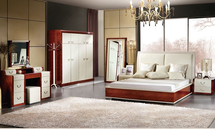 Italian Design Bedroom Furniture Bed Wadrobe Nighstand Modern Home Furniture  Wooden Bed YS001 In Bedroom Sets From Furniture On Aliexpress.com | Alibaba  ...