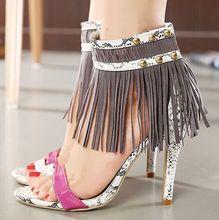 Size 4 9 High Heels font b Women b font Pumps Tassel Summer font b Women
